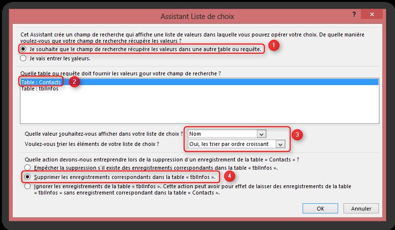Access 2013 et application web for Sur la table application